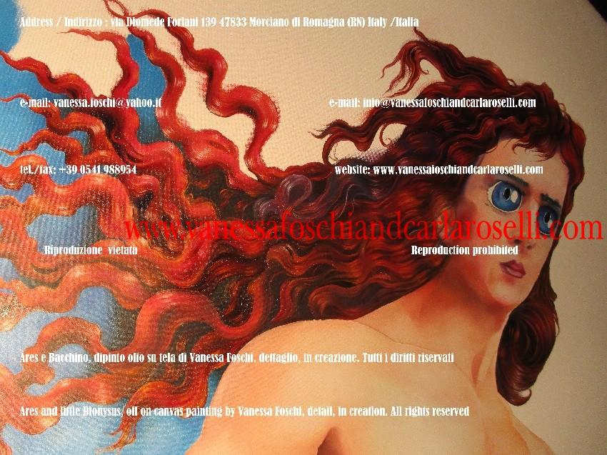 Ares dio dalla rutila chioma, Ares e Bacchino di Vanessa Foschi, pittore italiano, arte moderna e contemporanea IMG_7371