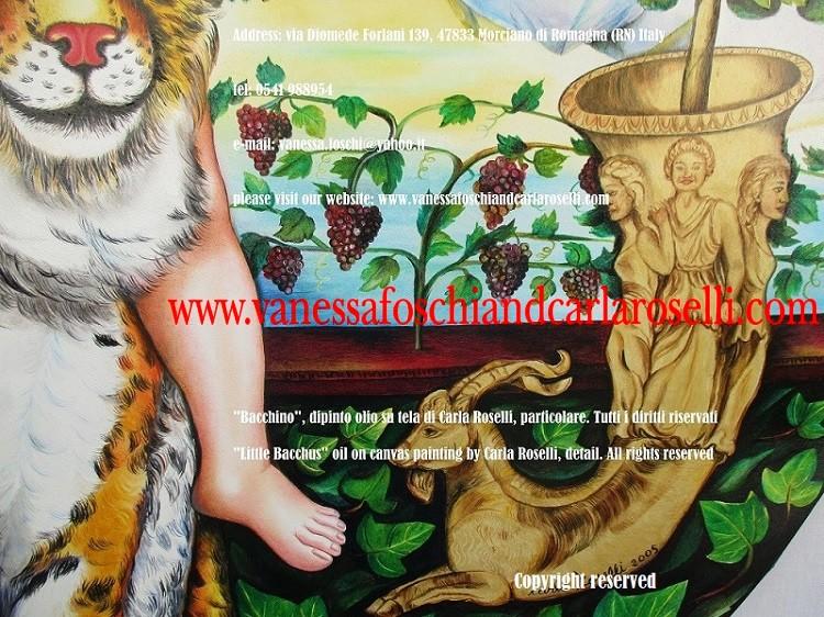 Gold rhyton, mycenaean art, Bacchus on a lynx, rhyton - arte micenea, oro, Bacchino, lince, opera di Carla Roselli, pittore