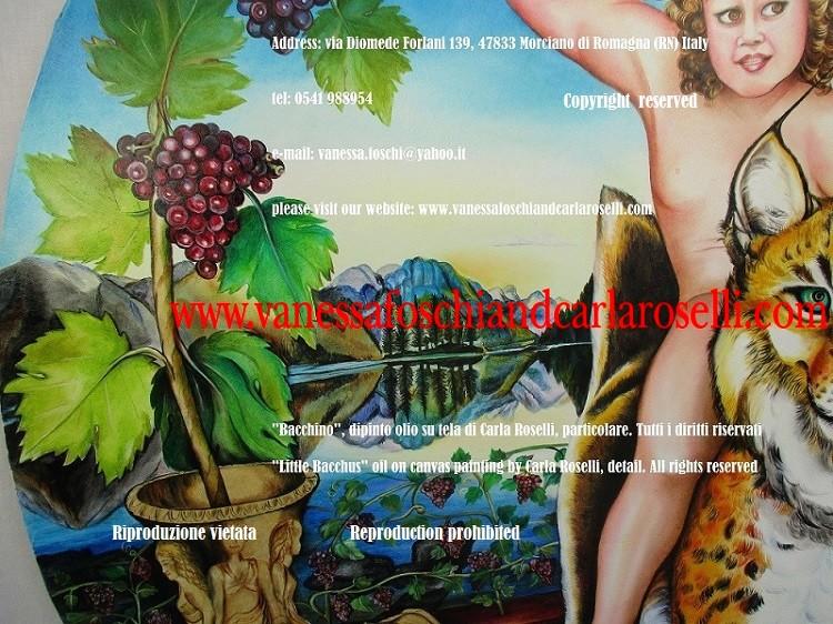 Gold rhyton, mycenaean art, Bacchus on a lynx- vite che spunta da un rhyton, arte micenea, oro, Bacchino, lince, opera di Carla Roselli, pittore