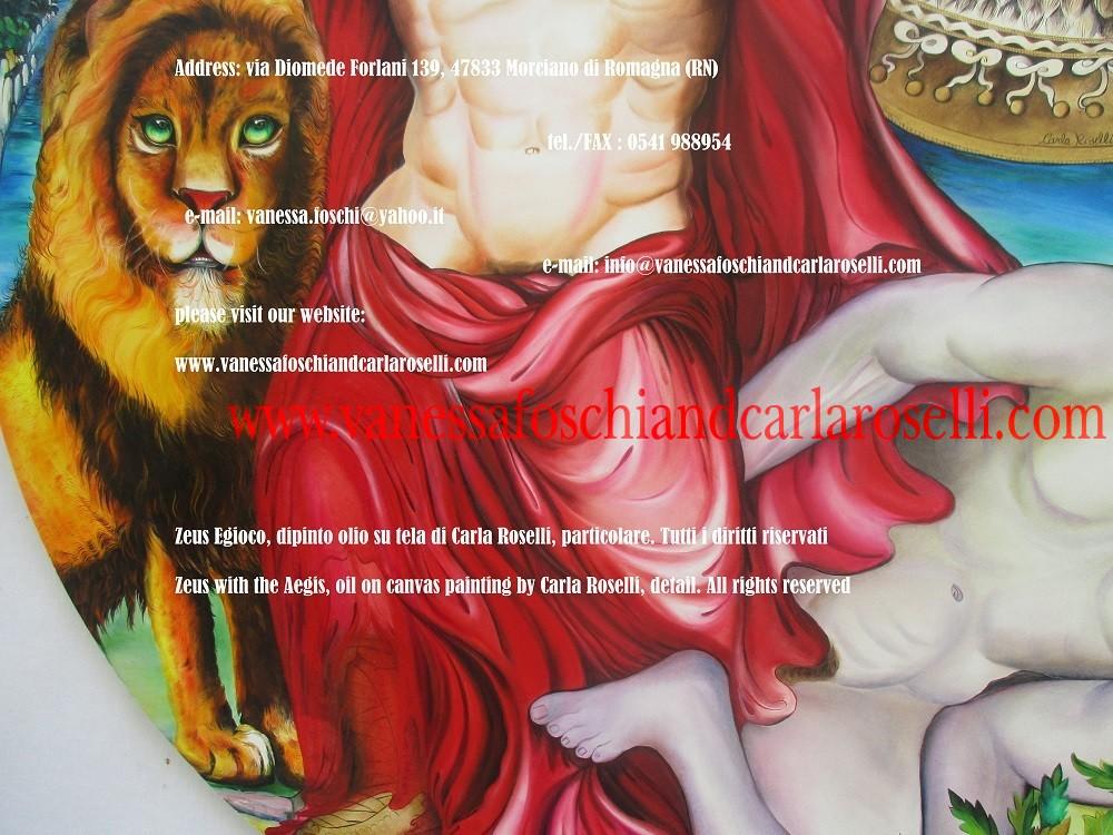 Zeus dipinto da Carla Roselli