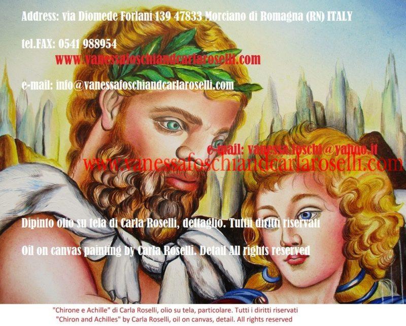 figlio di Saturno, Chirone il centauro, dipinto dalla pittrice italiana Carla Roselli