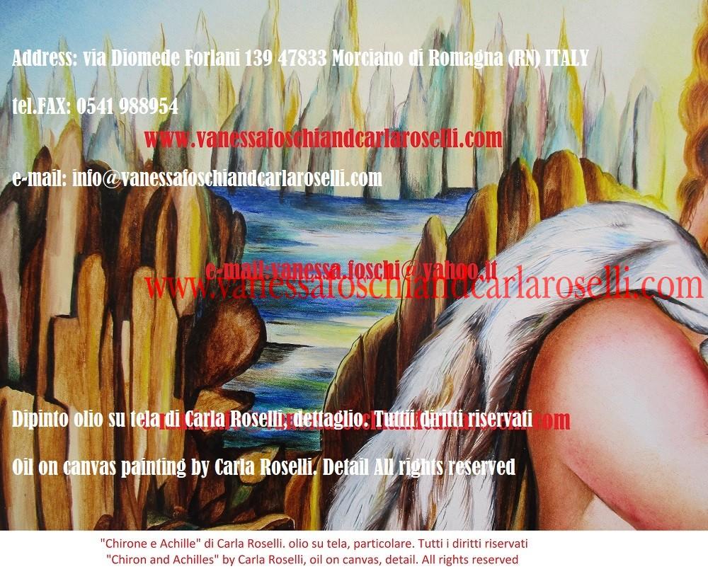 Chirone il centauro, sulle vette del Pelio, dipinto dalla pittrice italiana Carla Roselli