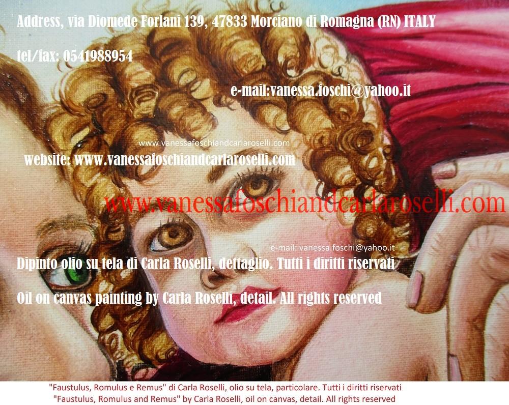 FAUSTULUS ROMULUS E REMUS Carla Roselli raffigura in questo dipinto Faustulus, il mandriano che trovò, per volere divino, i gemelli Romolo e Remo.