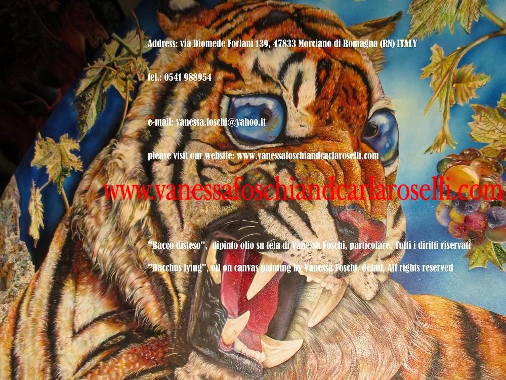 Tigri di Bacco-disteso-dipinto-olio-su-tela-di-Vanessa-Foschi-Bacchus-lying-oil-on-canvas-painting-by-Vanessa-Foschi