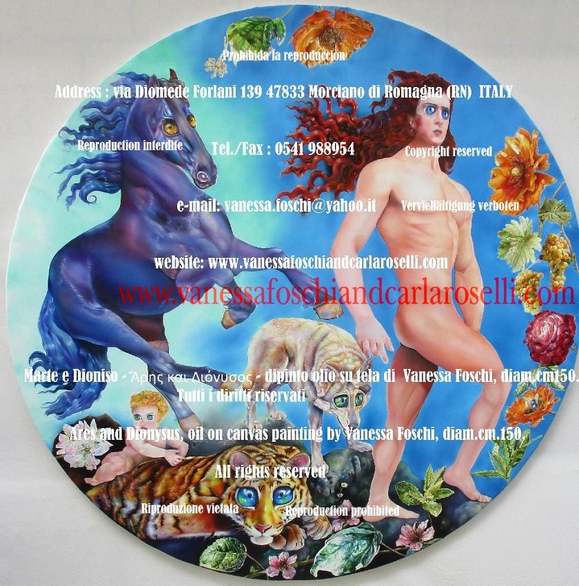 Ares, le dieu des armées, qui va tout renverser, tableau par Vanessa Foschi, peintre d'Italie