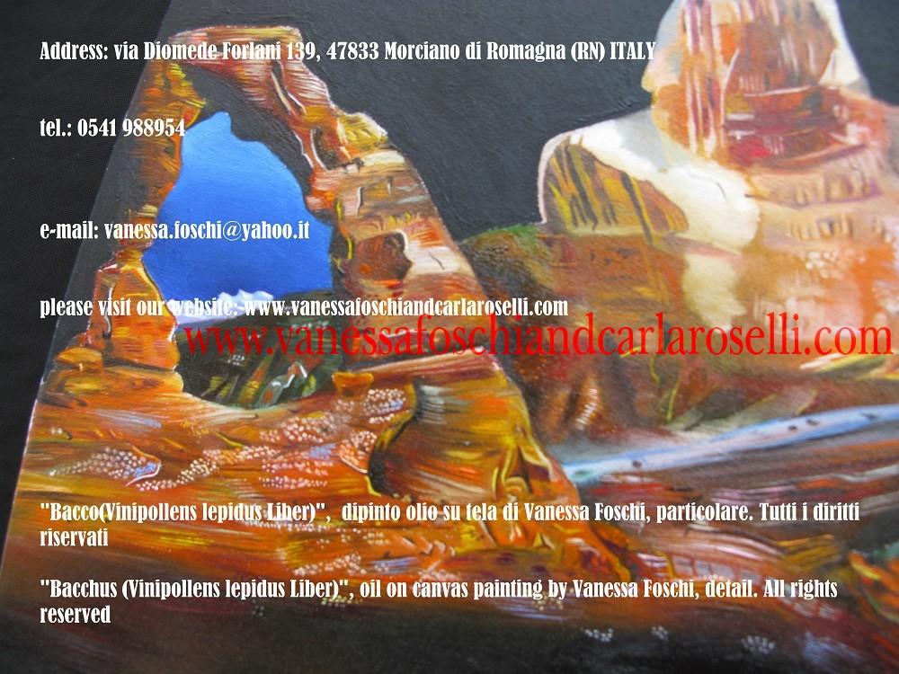Bacco, dipinto olio su tela di Vanessa Foschi - Bromius, Bacchus, oil on canvas painting by Vanessa Foschi