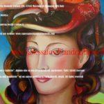 Nettuno Poseidone signore dela mare, consorte Anfitrite Salacia, dipinto di Carla Roselli