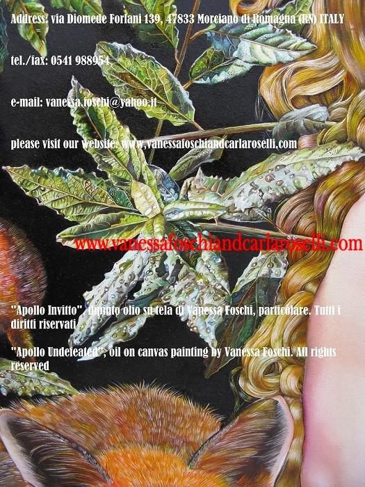 Apollo-dio-della-luce-dio-dall'arco-d'argento-dipinto-olio-su-tela-di-Vanessa-Foschi-alloro