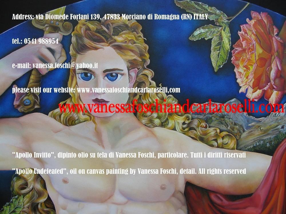 Apollo-dio-della-luce-dio-dall'arco-d'argento-dipinto-olio-su-tela-di-Vanessa-Foschi