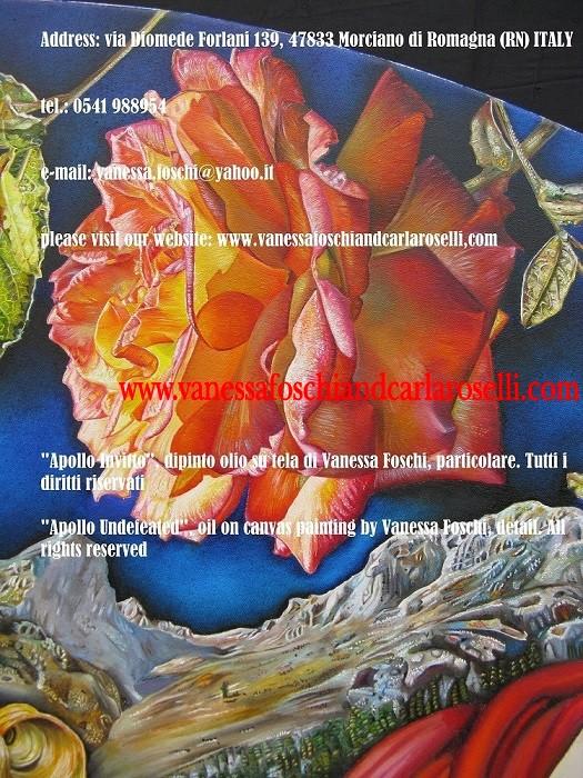 Apollo-dio-della-luce-dipinto-olio-su-tela-di-Vanessa-Foschi-monte-Parnaso-e-rosa