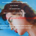 Bacco e Arianna, dipinto olio su tela di Carla Roselli, risveglio di Arianna a Nasso, dio Bacco