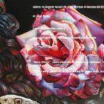 Bellissime rose nel dipinto Bacco e Penteo di Vanessa Foschi, tecnica olio su tela