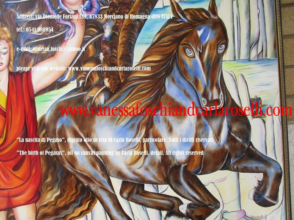 cavallo Pegaso dipinto da Carla Roselli di Morciano di Romagna