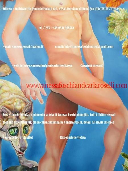 Ares, il più veloce degli dei immortali, dipinto di Vanessa Foschi, belle arti - Ares, the fastest between the deathless gods, painting by Vanessa Foschi, fine arts