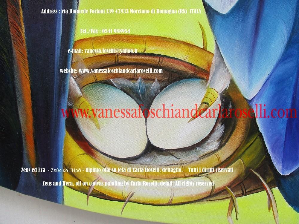 Zeus ed Era - dipinto olio su tela della pittrice Carla Roselli di Morciano, nido di aquila - Zeus and Hera by paintress Carla Roselli - Ζεύς και Ἥρᾱ