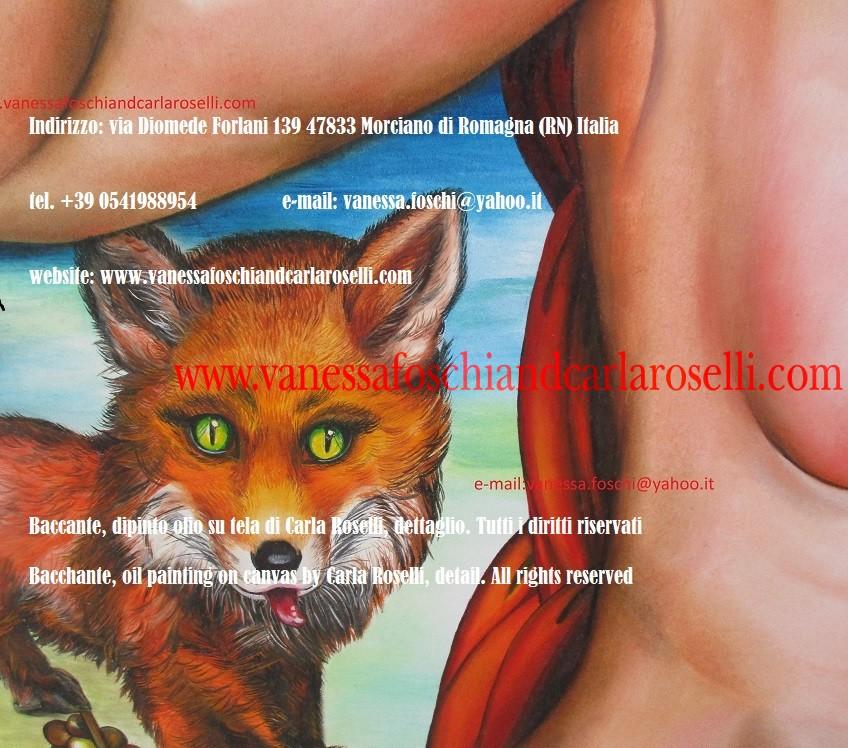 Bassaride, Baccante, dipinto di Carla Roselli, pittore - The painters of the gods
