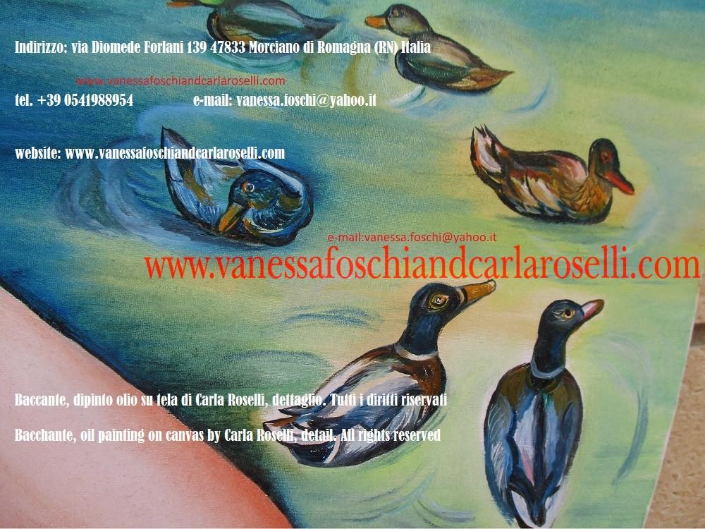 The painters of the gods -Baccante, seguace del dio greco Dioniso, mitologia, dettaglio del dipinto olio su tela di Roselli Carla, pittore