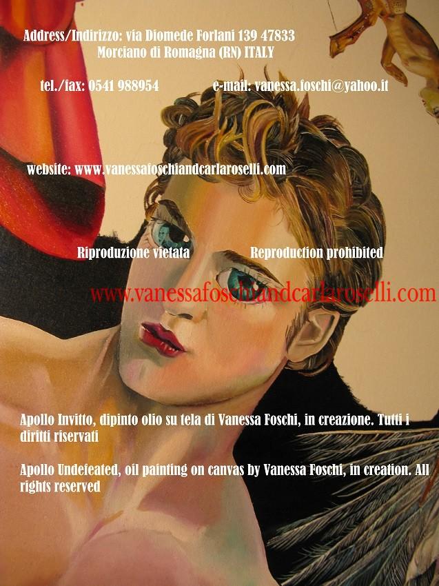 Porfirione, in creazione, dipinto di Vanessa Foschi. Pittori italliani. Mitologia