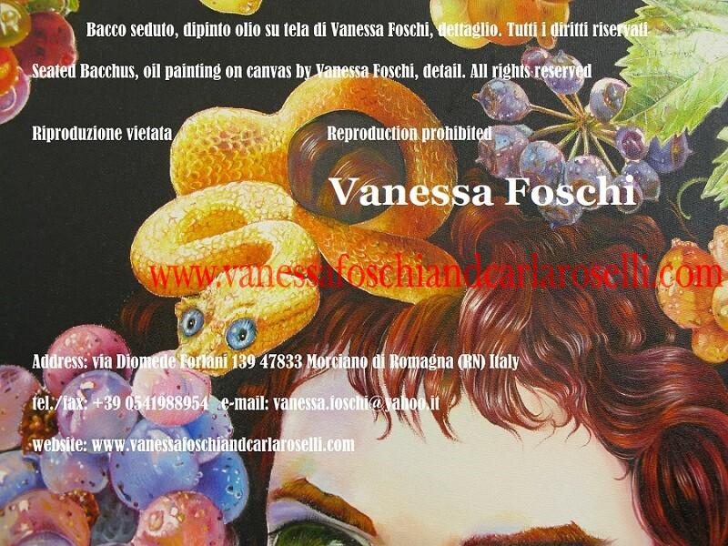 Bacco seduto dipinto da Vanessa Foschi, Bacchus assis, peinture huile sur toile par Vanessa Foschi -Dionysus seated, oil painting on canvas by Vanessa Foschi