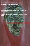 Pittori famosi. La maschera di giada, dipinto giovanile di Carla Roselli. primi anni Settanta - The jade mask, painting by young Carla Roselli, early Seventies
